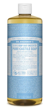 Dr. Bronner's Unsented Baby Organic Soap