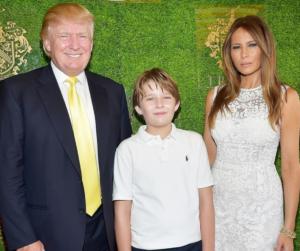 Donald, Barron & Melania Trump